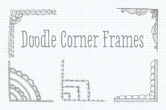 Clip Art Doodle Corner Frame Vectors