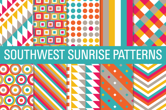 Southwest Sunrise Digital Papers