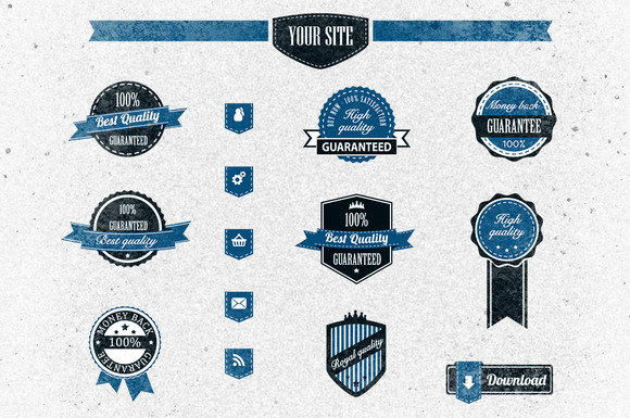 Retro Badges Vector Pack