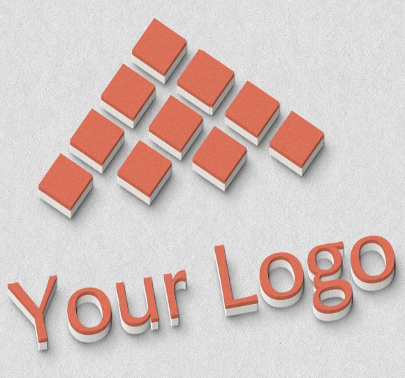 Logo Mock-ups 3D Style