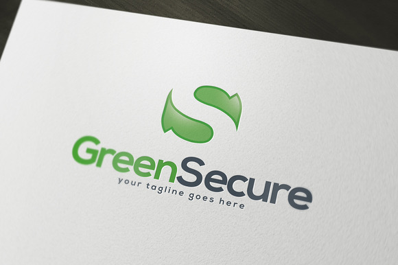 Green Secure Logo Template