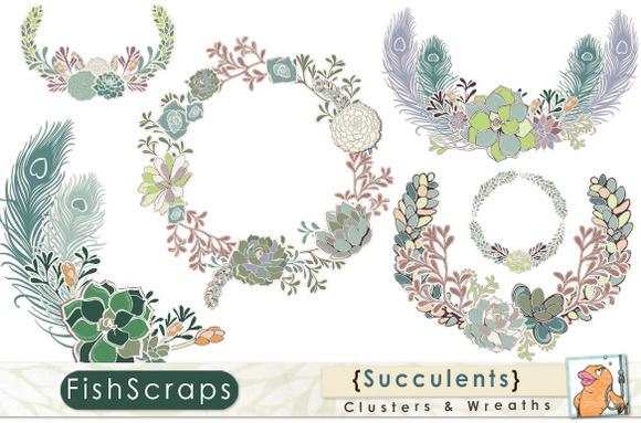 Succulent Clusters Floral Wreaths