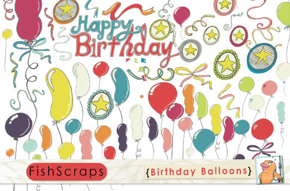 Birthday Balloon ClipArt Party