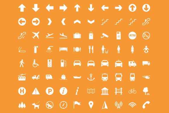 Transit 80 Wayfinding Icons