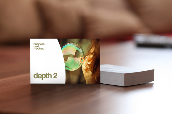 Depth 2 Business Card Mock-Up