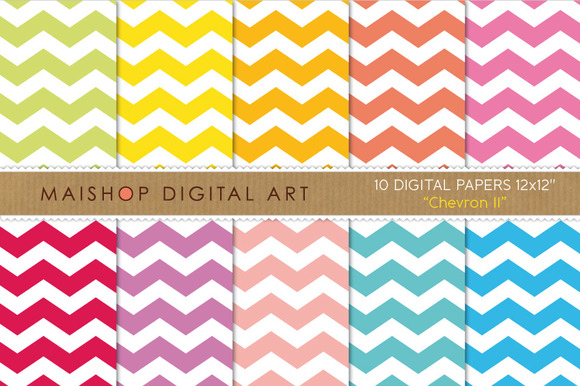 Digital Papers Chevron II