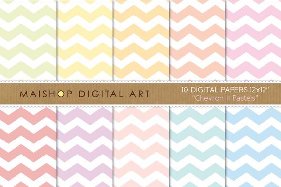 Digital Papers Chevron II Pastels