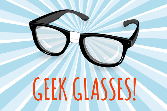 Geek Glasses Illustration
