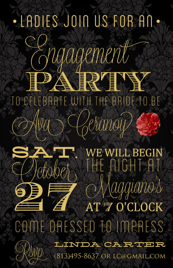 engagement party invitation templates – gangcraft, Birthday invitations