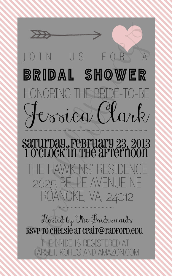 Cupid Bridal Shower Invitation