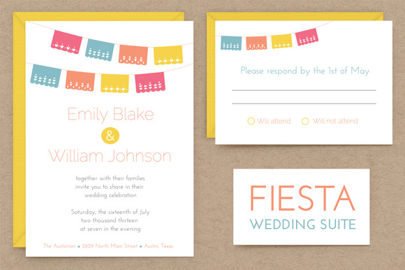 Fiesta Wedding Invitation Suite