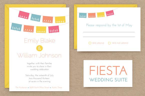 Fiesta Wedding Invitation Suite