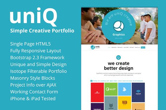 UNIQ Responsive Creative Portfolio