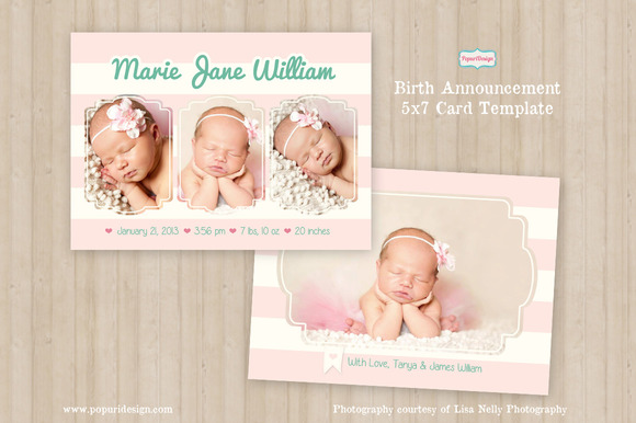 photoshop birth announcement photoshop psd free designtube creative design content. Black Bedroom Furniture Sets. Home Design Ideas