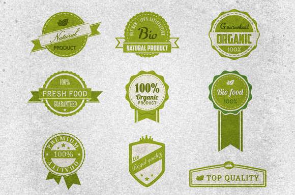 Bio Badges Vector Pack