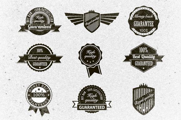Retro Badges Vector Pack 2