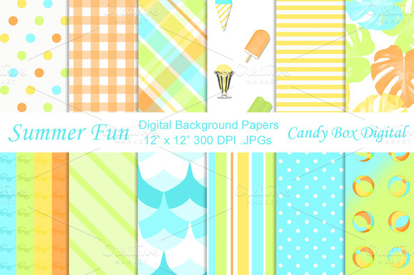 Summer Fun Digital Papers