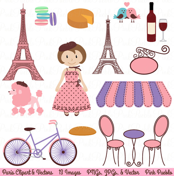 Paris Vectors And Clipart