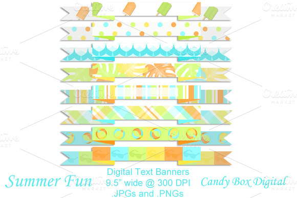 Summer Fun Digital Text Banners