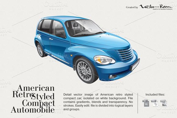 American Retro Styled Automobile