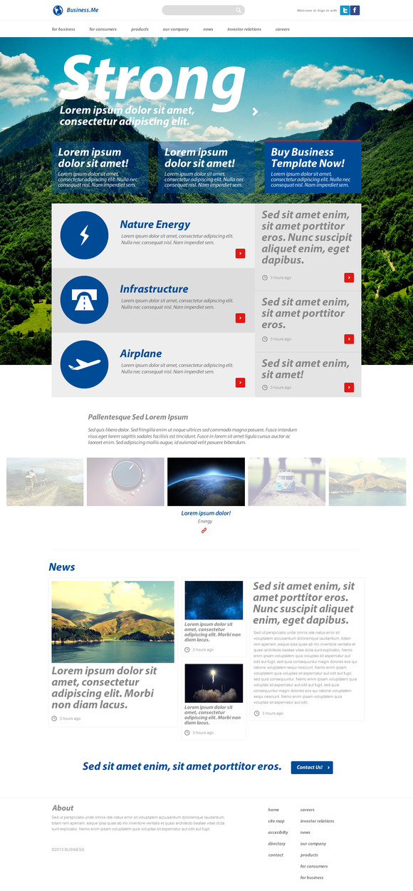 Business Me PSD Template