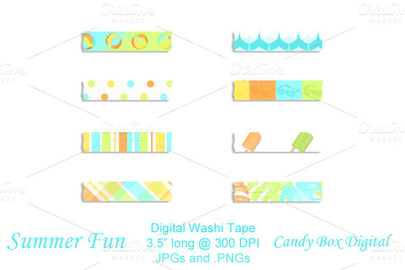 Summer Fun Digital Washi Tape