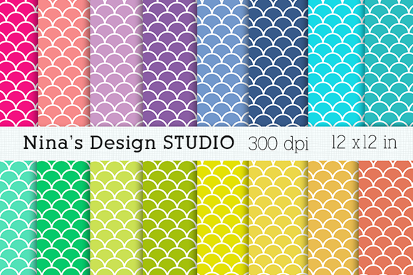 Scales Pattern Digital Papers