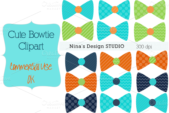 Bowtie Clipart-Green Navy And Gren