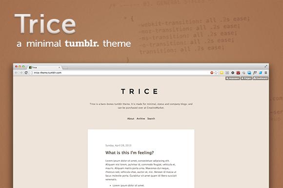 Trice ~ A Minimal Tumblr Theme