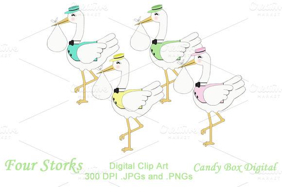 Four Storks