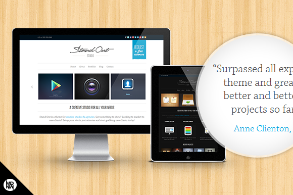 Stand Out A Responsive Studio Theme