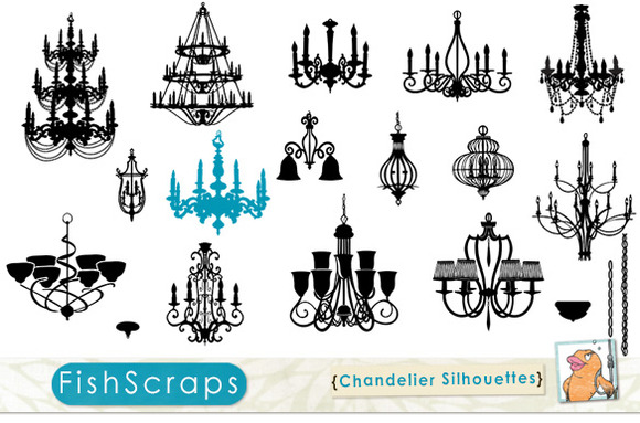 Chandelier Silhouettes PS Brushes