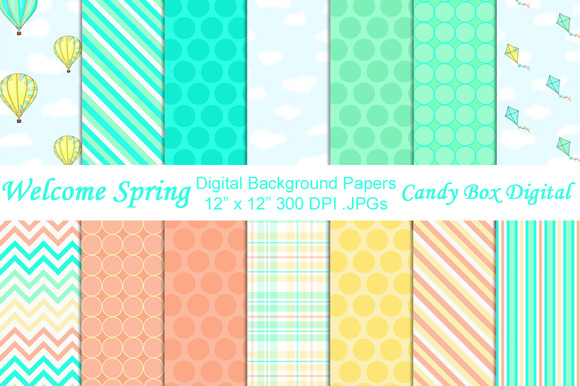 Welcome Spring Digital Papers