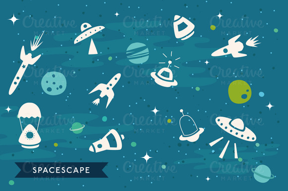 Vector SpaceScape Illustration