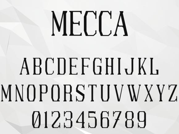 Mecca Typeface