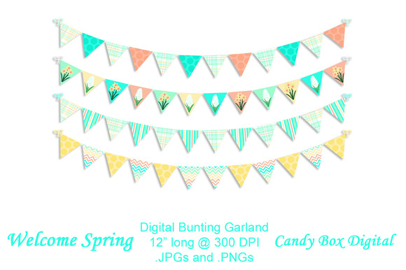 Welcome Spring Bunting