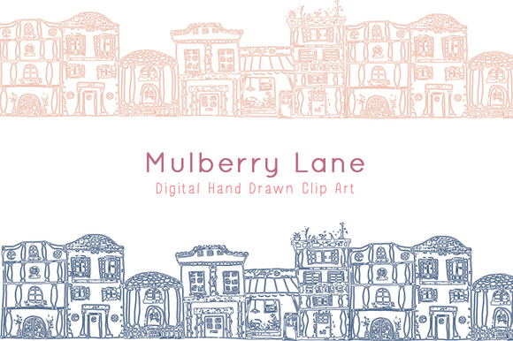 Mulberry Lane Digital Clip Art