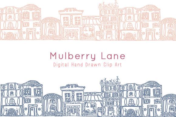Mulberry Lane Digital Clip Art
