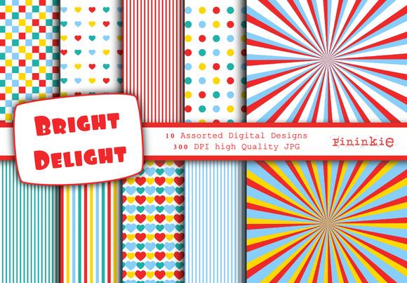 Bright Delight Digital Paper 12 X 12