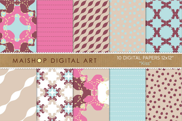 Digital Papers-Kiss
