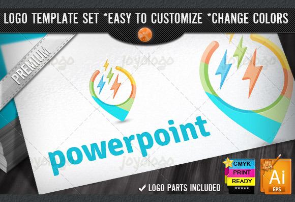 Softwares 3D Power Point Logo Design