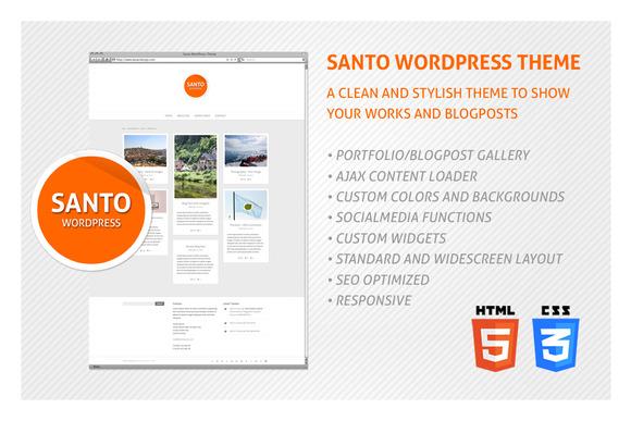 Santo WordPress Theme