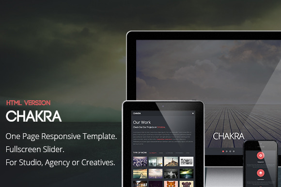 Chakra One Page HTML Template