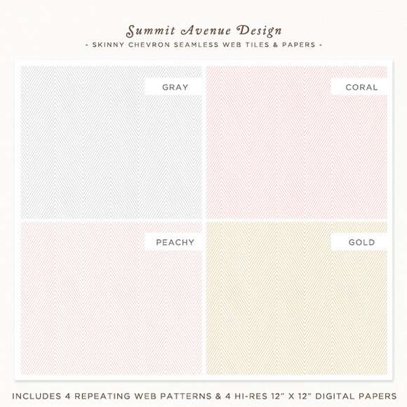 Skinny Chevron Backgrounds