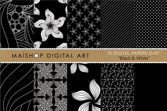 Digital Papers-Black White