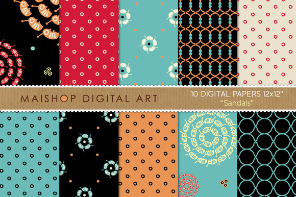 Digital Papers-Sandals