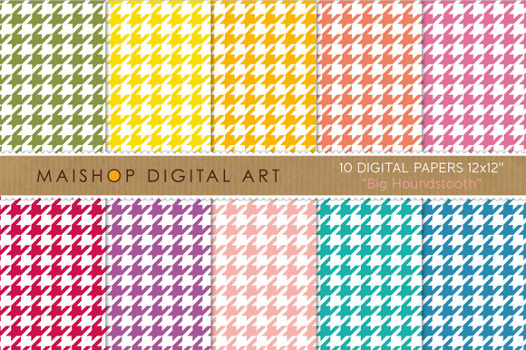 Digital Papers-Big Houndstooth