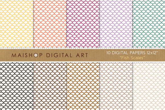 Digital Papers-Fish Scales
