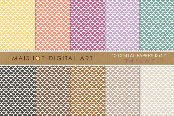 Digital Papers-Fish Scales II