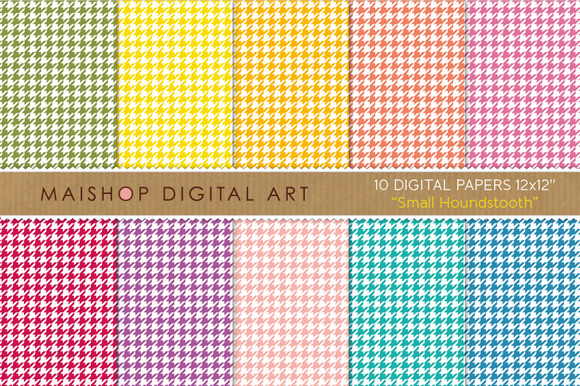 Digital Papers-Small Houndstooth